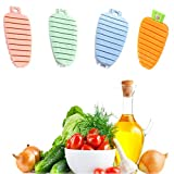 4 cepillos de frutas vegetales para limpiar patatas, con forma de zanahoria, cepillo de hongos y verduras, herramienta de limpieza de hendiduras de mano
