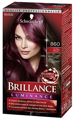 Schwarzkopf–brillo–Coloración permanente–Luminance–Ultra Violet 860