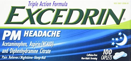 Excedrin PM Headache Pain Reliever Caplets, 100 Count by Excedrin