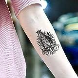 Santa Muerte Temporary Tattoo Sticker (Set of 2) - www.ohmytat.com
