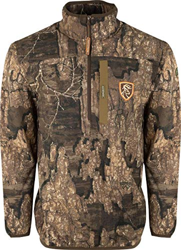 Drake Waterfowl Camo Tech 1/4 Zip with Agion Active XL Realtree Timber 3Xlarge