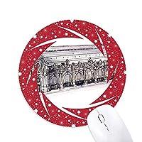 オルセーパリフランスの博物館 円形滑りゴムの赤のホイールパッド