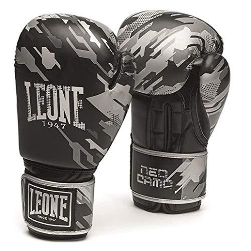 Leone1947 Boxhandschuhe Neo Camo - Camo Grau - Boxhandschuhe Boxen Kickboxen Sparring Muay Thai - Solide Boxhandschuhe mit Air Cool Innenhand im Camo Style (12 Unzen)
