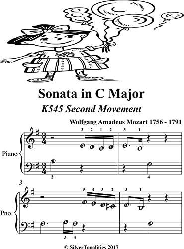 Sonata in C Major K545 Second Movement Beginner Piano (English Edition)
