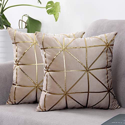 cojines decorativos amarillos para sofa muebles cuarto sala 2pcs elegantes