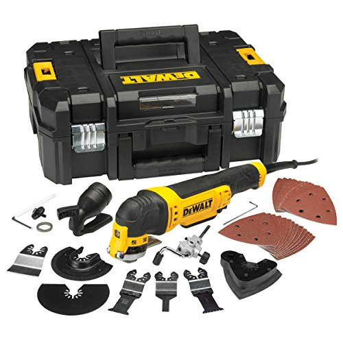 Dewalt DWE315KT-LX Oscillating Multi Quick Change Tool Release in TStak Case with 37 Accessories 115V, 300 W, 115 V, Yellow, LARGE
