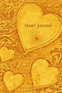 """Heart Journal: Stylebook, Artist Notebook, Passion Planner, Love Journal for Couples, 6"""" x 9"""", 120 pages (From Heart Series)"""