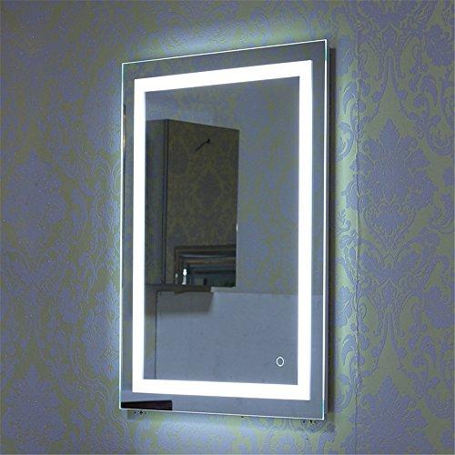 Turefans badspiegel mit Beleuchtung, led Spiegel, 22W + kühles Weiß + Touch-Schalter (60 * 80 cm)