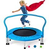 Merax 36' Mini Trampoline for Kids Exercise Rebounder Portable Trampoline with Handrail and Padded Cover