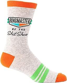 Blue Q Socks, Men's Crew, Ringmaster of The S--t Show