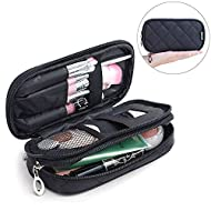 Mlmsy Makeup Bag with Mirror Hold Brushes Professional Multi-Functional 2-Layer Cosmetic Organiser f...