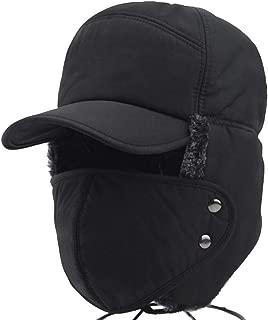 Suszian Cappellino Invernale 3 in 1 Multifunzionale Antivento Cappello Invernale paraorecchie Maschera per Berretto da Sci Invernale con Protezione per Le Orecchie