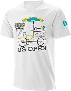Wilson Women`s 2019 US Open Bike Tennis Tee White (Medium Wh White)