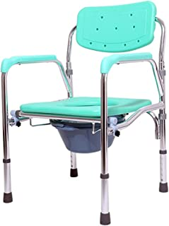 風呂 椅子 障害を持つ高齢者のための携帯用ビデシャワーチェアトイレ 軽量 丈夫 シャワー用 介護 (色 : 緑, Size : 43cm)