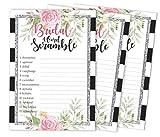 Inkdotpot 50-Pack-Hochzeit Word Scramble-Brautparty-Spiel-Karten Blumenparty Wedding Supplies