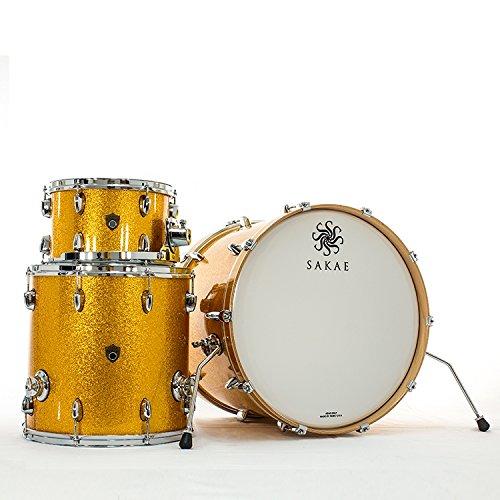 Sakae Trilogy Gold Sparkle Acoustic Drum 3pcs