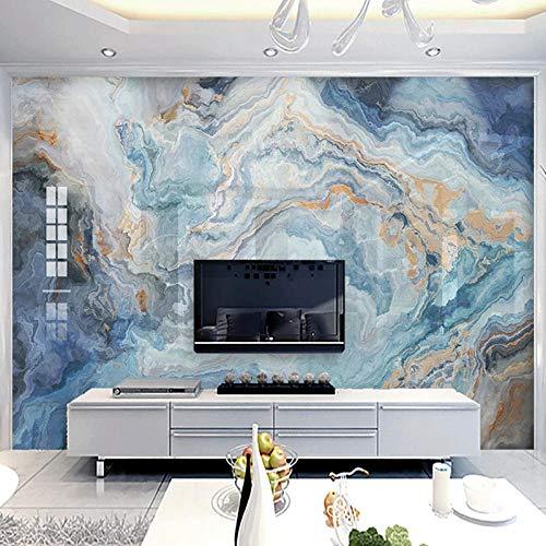 XIAOHUKK PVC self-Adhesive Wallpaper 3D Photo Abstract Blue Marble Pattern Wall Mural/self-Adhesive Large Wallpaper