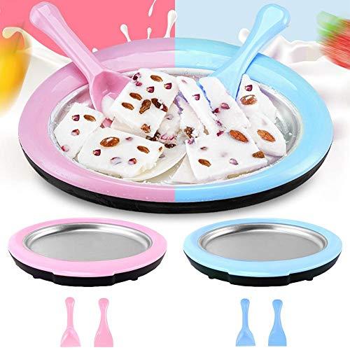 Máquina para hacer helados, Bandeja de hielo frito, Máquina para hacer helados caseros Mini Instant Sweet Spot, Helado artesanal Crema de yogurt helado Sorbete Gelato, No necesita electricidad