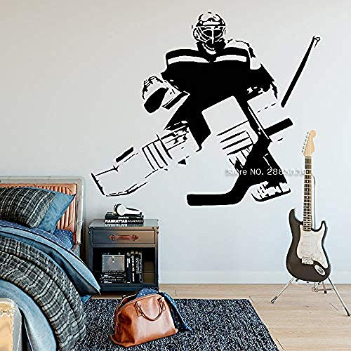 Hockey Wall Decal Decor Murals Art Teen Bedroom Hockey Decals Wall Decoration Ice Hockey Posters Vinyl Stickers Removable 50x42cm