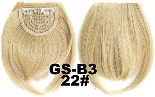 # 22 100% fibre synthétique haute température Clip dans/sur cheveux avant frange frange cheveux