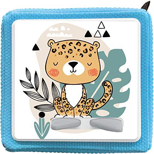 K002 | Schutzcover Schutzfolie für Toniebox selbstklebende passgenaue Folie Motive Zubehör für Kinder Spielzeug Aufkleber Sticker Personalisiert Wunschname (Nr. 5 Leopard, ohne Wunschname)
