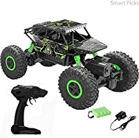 Smart Picks 1:18 Rechargeable Rock Crawler 4WD 2.4 Ghz 4x4 Rally Car RC Monster Truck Kids Play Toys