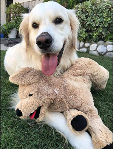 "LotFancy 20.8"" Dog Stuffed Animals Plush, Soft Cute Cuddly Golden Retriever Plush Toys, Large Stuffed Dog, Valentines Gift for Kids, Pets,Girls,Beige"