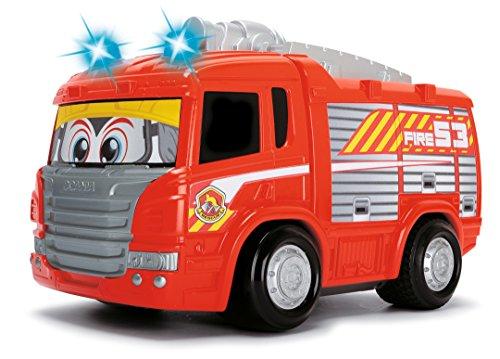 RC Auto kaufen Feuerwehr Bild 3: Dickie Toys 203814031 - RC Happy Scania Fire Engine, funkferngesteuertes Feuerwehrauto, für Kleinkinder ab 2 Jahren, 27 cm*