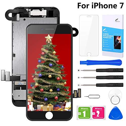 BuTure Schermo per iPhone 7 LCD Touch display Nero(4.7' Pollici), Assemblaggio Digitalizzatore Compatibile (con Fotocamera, Altoparlante, sensore di prossimit) Kit Completo di Riparazione