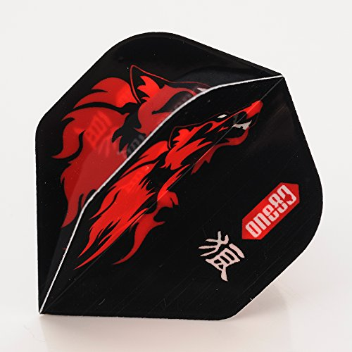 1 Set of ONE80 ANIMAL KINGDOM SOLID rot WOLF DART FLIGHTS STANDARD SHAPE