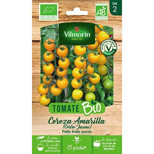 Vilmorin Sachet graines Tomate Cereza Amarilla (Cerise Jaune) Bio