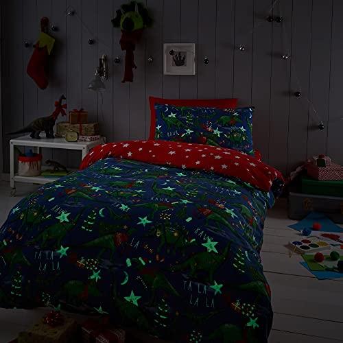 Happy Linen Company Boys Girls Kids Christmas Dinosaur Glow In The Dark...