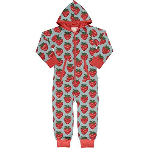 Maxomorra Onepiece Sweat Strawberry 98/104