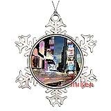 happygoluck1y Times Square New York - Adornos de Navidad para árbol de Navidad, decoración del hogar para niños