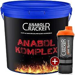 Anabol Komplex Whey Protein Shake, Vanille oder Banane 2,27Kg Eimer Eiweißpulver Glutamin Molke + Shaker (Vanille)
