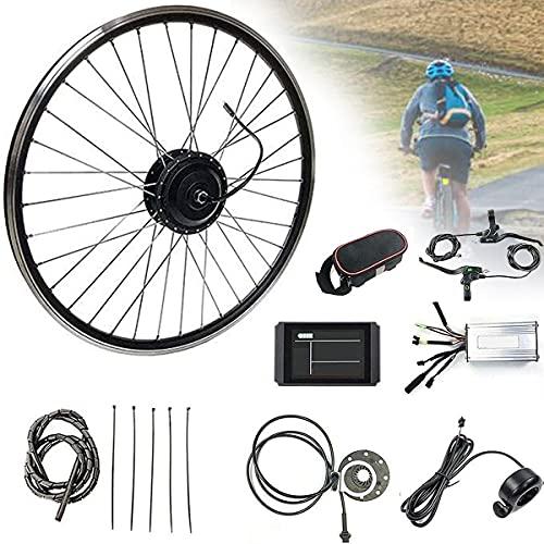 CHEIRS 36V / 48V 500W 20'/ 24' / 26'/ 27.5' / 28'/ 29' / 700C Kit de conversión Rueda Trasera Electric Bike Conversion Kit con Controlador de Modo Dual con Pantalla LED,36V-27.5INCH