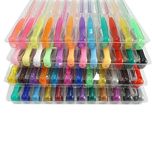 Pluma de Gel de Color Pluma de Acuarela 48/100 Color Set Highlight Flash Pen Metal Pastel (Color : 48pcs, Ink Color : Multi Colored)