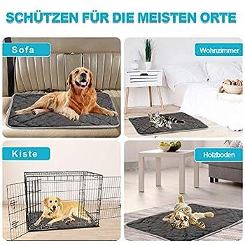 All--In Couverture pour chien chaude, antidérapante, lavable, tapis doux pour animal domestique (Gris, L)
