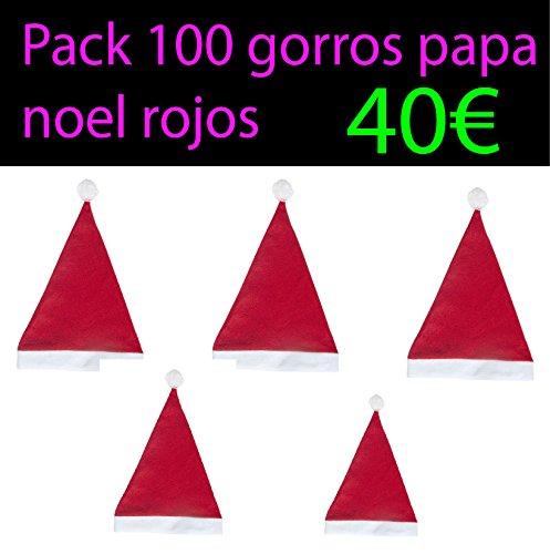 Pack 100 gorros papa noel rojos baratos: Amazon.es: Juguetes y juegos