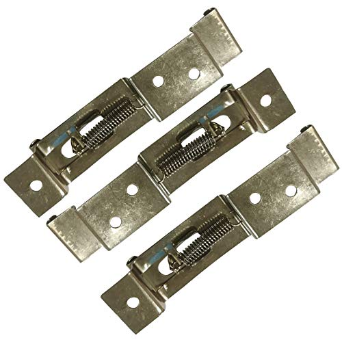 Support de plaque d'immatriculation de remorque, 1 paire de pinces de plaque d'immatriculation de voiture, support à ressort de remorque, en acier inoxydable., As Pictures Shown, Taille unique