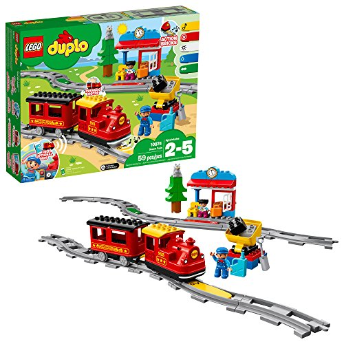LEGO DUPLO Steam Train 10874 Remote-Control Building Blocks Set Helps Toddlers Learn, Great LEGO STEM Toy.