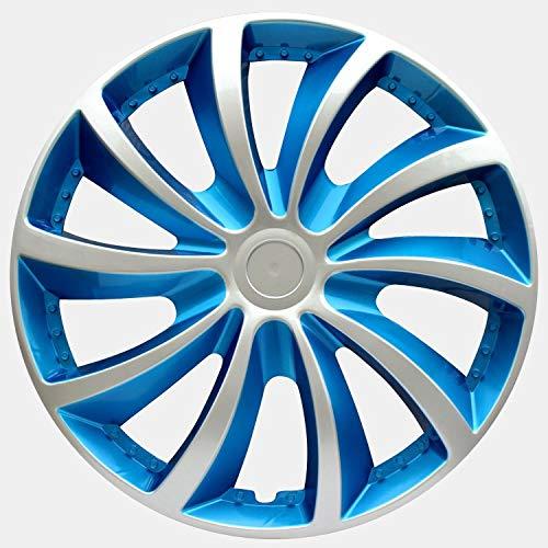 SEHNL Coche HOBCAP para Llantas 15 Pulgadas Universal Fit Coche Papas de Ruedas de Hierro Cap HUB Cap Auto REFIT Accesorios (4 PCS) (Color : Blue)