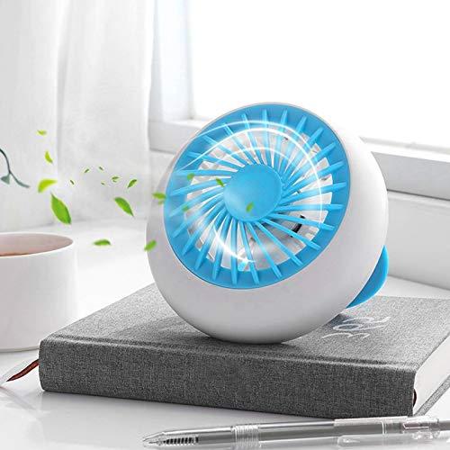 FOLOSAFENAR Mini Ventilador USB Recargable portátil, Ventilador de refrigeración de Escritorio portátil Personal de Viento Fuerte para Acampar, Oficina en casa