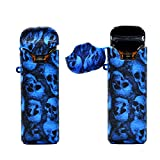 rayley Protective Silicone Case Skin Cover Sleeve Wrap Shield for Uwell Crown Pod Starter Kit (Skull-Blue)