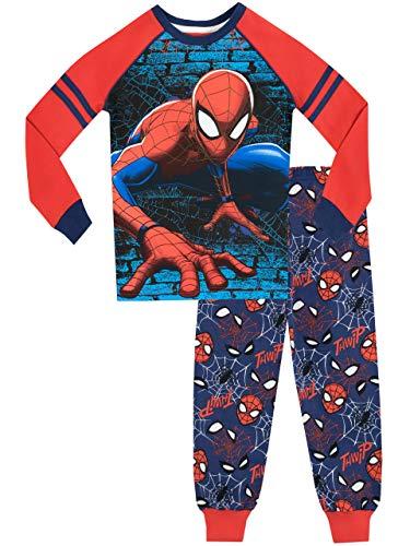 Spiderman Jungen Spider-Man Schlafanzug Slim Fit Blau 116