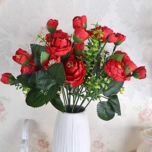 Cozyhoma Künstliche Teepflaumenzweige aus Seide, Frühlingsblumen und Pfirsichblüten, für Zuhause, Hochzeit, Dekoration, 5 Stück