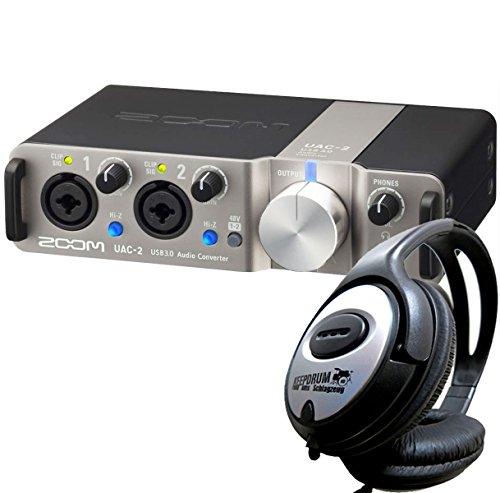 Zoom UAC-2 Audio-Interface USB 3.0 + keepdrum Stereo-Kopfhörer