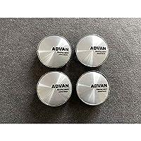 【並行輸入品】ADVAN用 4個セット ホイールキャップ 保護 カー/自動車用 防塵 外径60mm ハブキャップ ADVAN