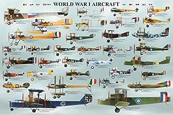 EuroGraphics World War I Aircraft Poster 36 x 24 inch