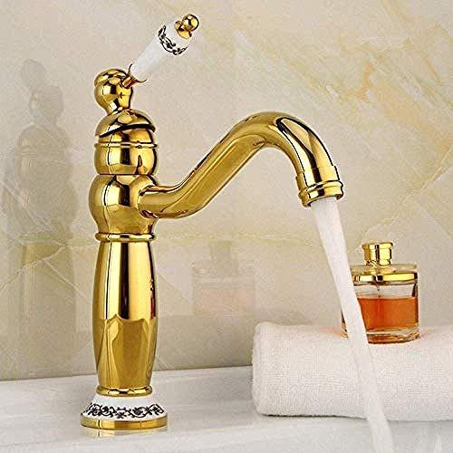 Vintage goud badkamer basin waterkraan antiek messing theepot waterkraan moderne badkameraccessoires waterkraan keramiek waterkraan